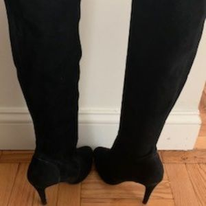 Aldo 8.5 Black Faux Suede Mid Calf Boots